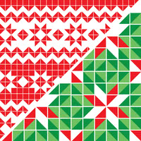 Christmas patchwork / fairisle